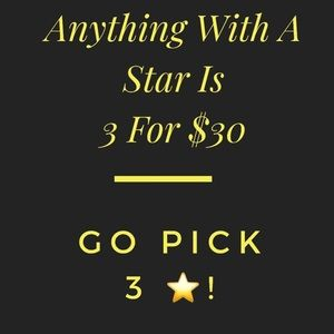 ⭐️Anything With A Star Is 3for $30⭐️